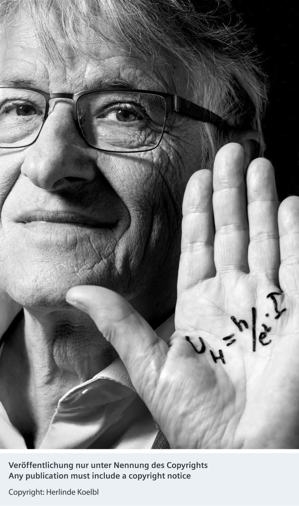 Portrait Klaus von Klitzing - Siemens fördert neues Fotokunst-Projekt von Herlinde Koelbl