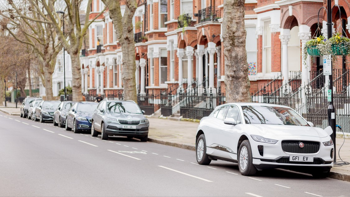 Sutherland Avenue, a conservation area in Maida Vale, where 24 lampposts double up as EV charging stations.
