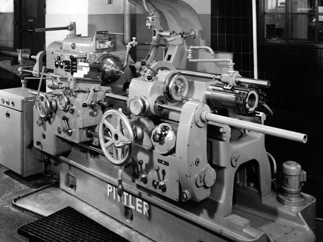 An automated lathe from the Pittler company, Langen, 1950s