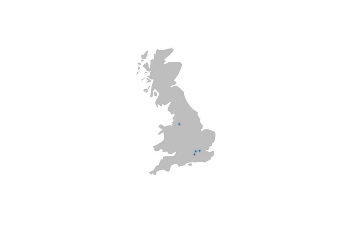 Map of Siemens Financial Services UK Offices