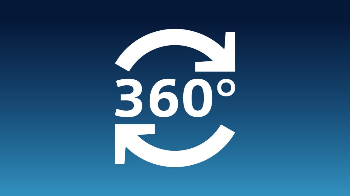 Icon showing 360 degrees