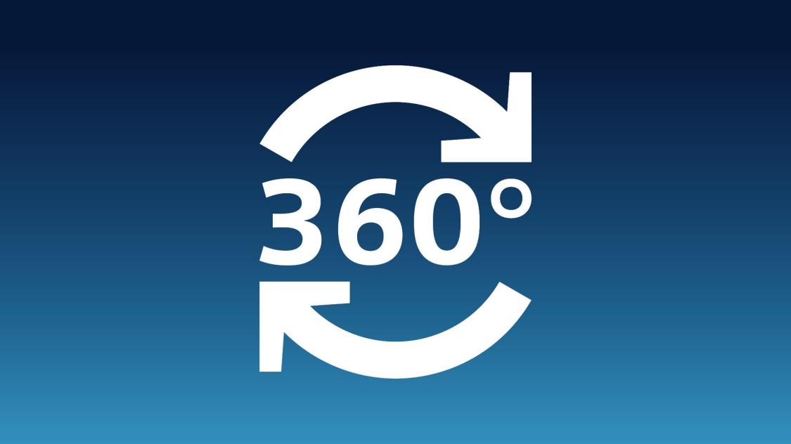 Icon, das 360 Grad zeigt