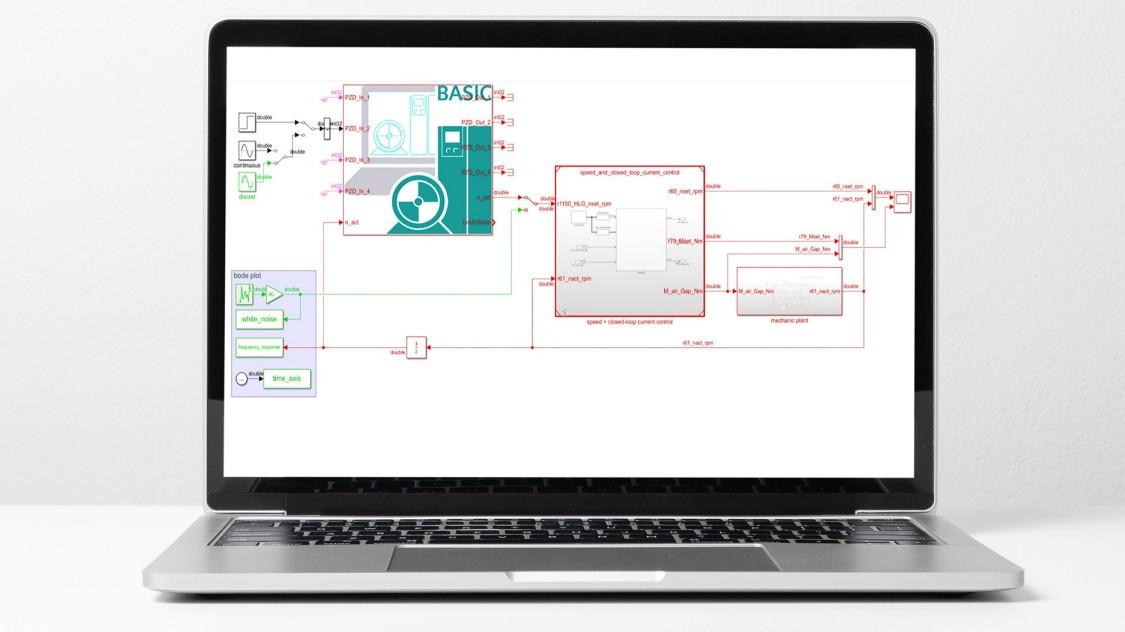 Software screenshot of SINAMICS DriveSim Basic showing importation of FMU file