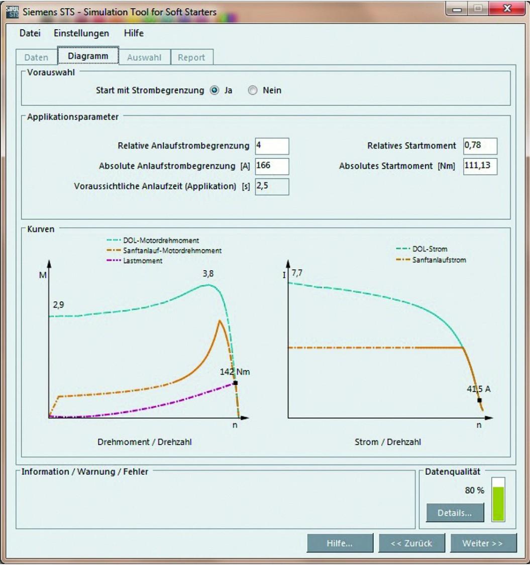 Siemens SIRIUS 3RW Softstarter - STS simulatie tool softstarters