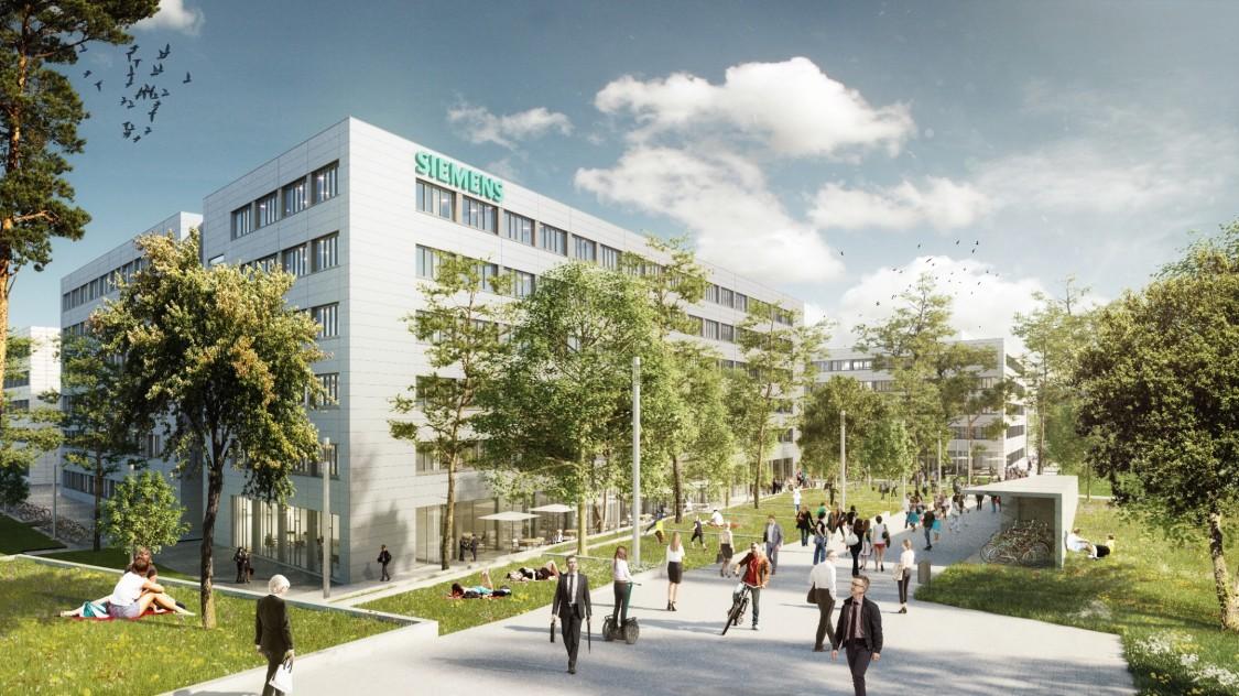 Rendering Siemens Campus Erlangen