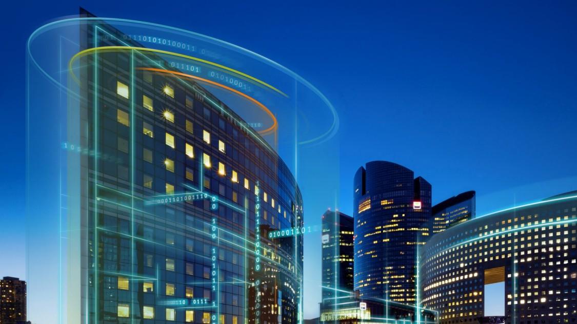 Kuva digitaalisesta rakennuksesta