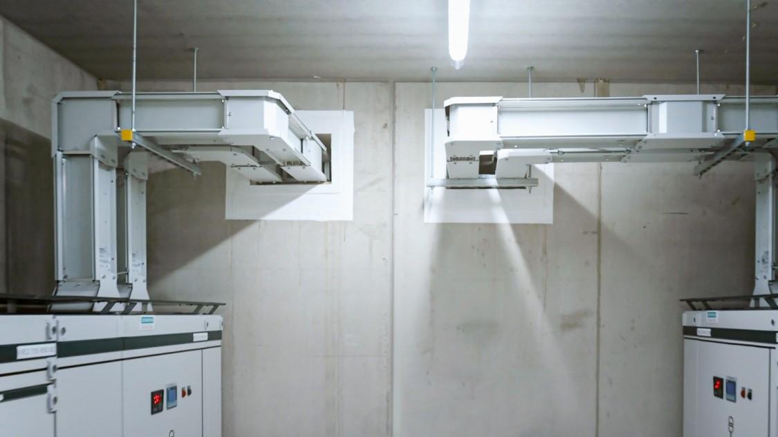 Les canalisations électriques préfabriquées du centre de données d'Interxion