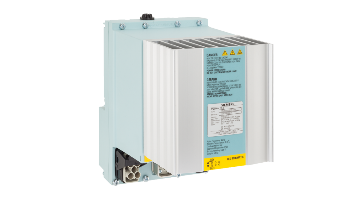 SIMATIC ET 200pro frequency converters for drive applications