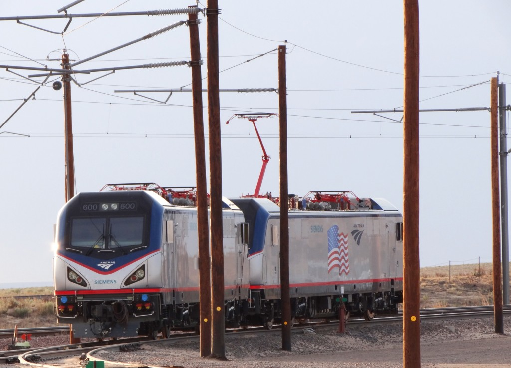 Amtrak Cities Sprinter auf Testfahrt