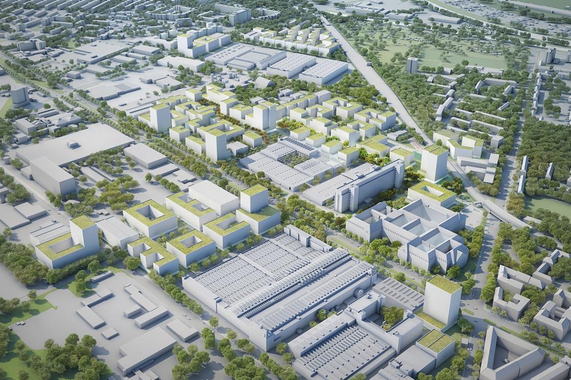Modell Berlin Siemensstadt 2.0 von oben