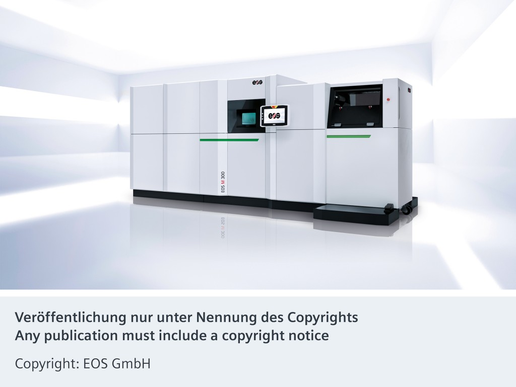 The picture shows the EOS M 300 series for digital industrial AM production.