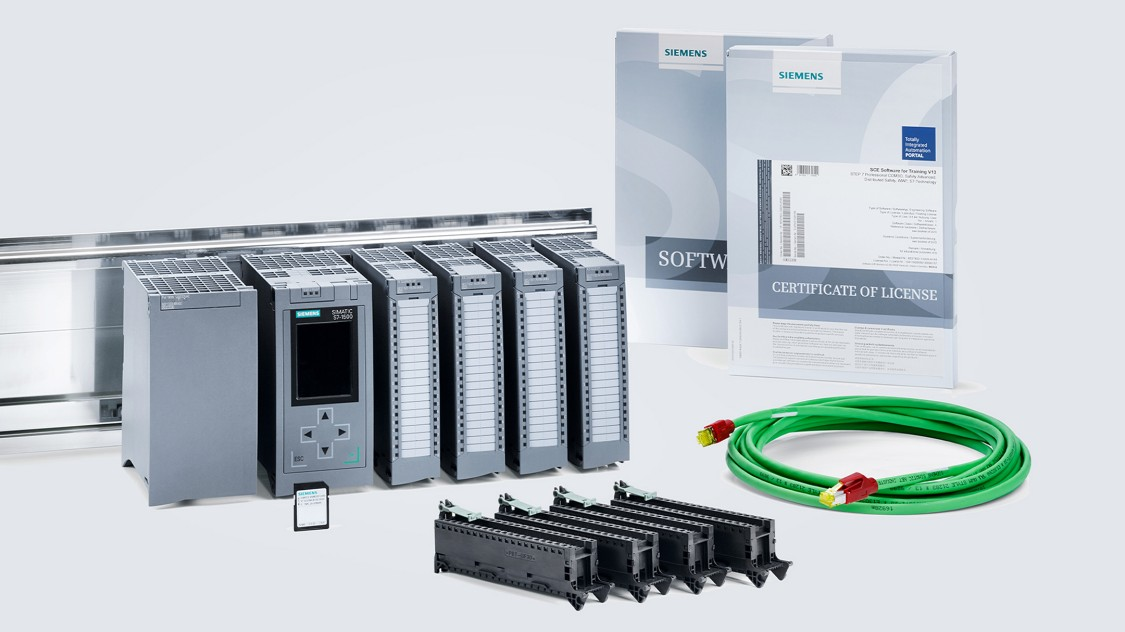 Siemens Trainer Pakete aus original Industrieprodukten  mit Hardware und Software