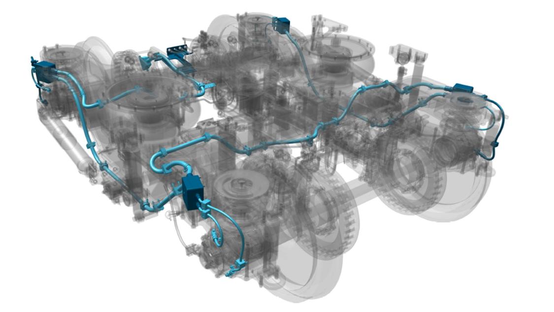 Bahn-Fahrwerksdiagnose im 3D-Modell