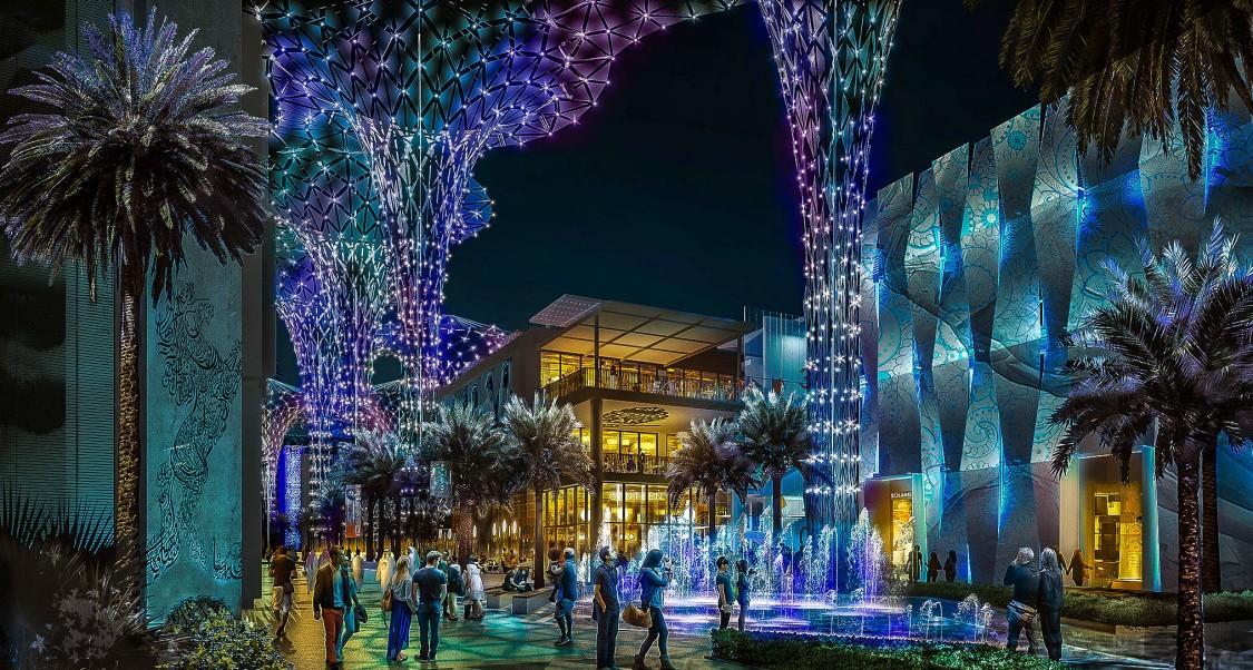 Eine Visualisierung der Expo 2020 in Dubai.