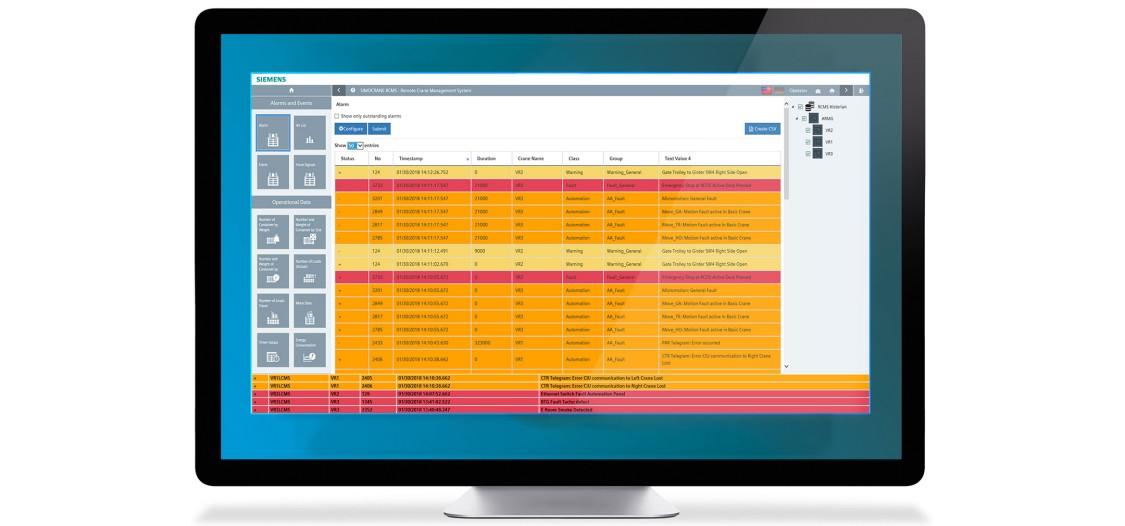 Screenshot of fault massages