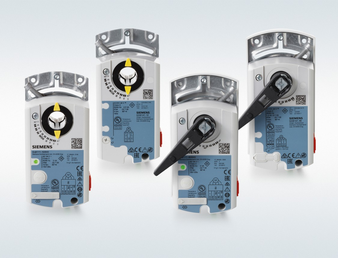 Luftklappen-Stellantriebe mit KNX Kommunikation