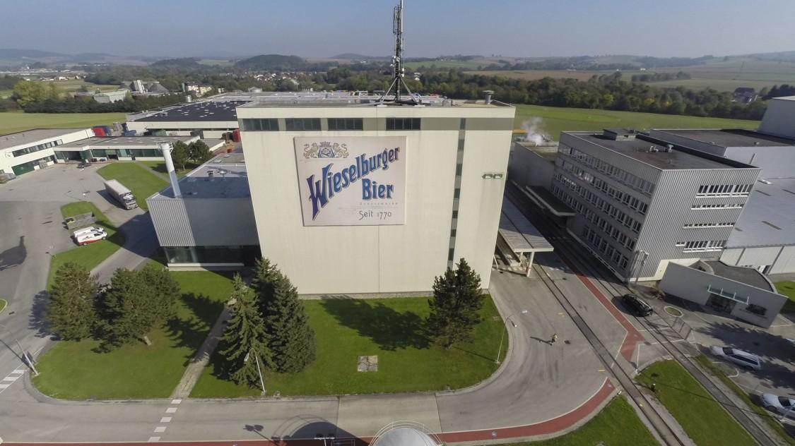 Die Brauerei in Wieselburg wurde 1770 gegründet und 1973 komplett neu gebaut.