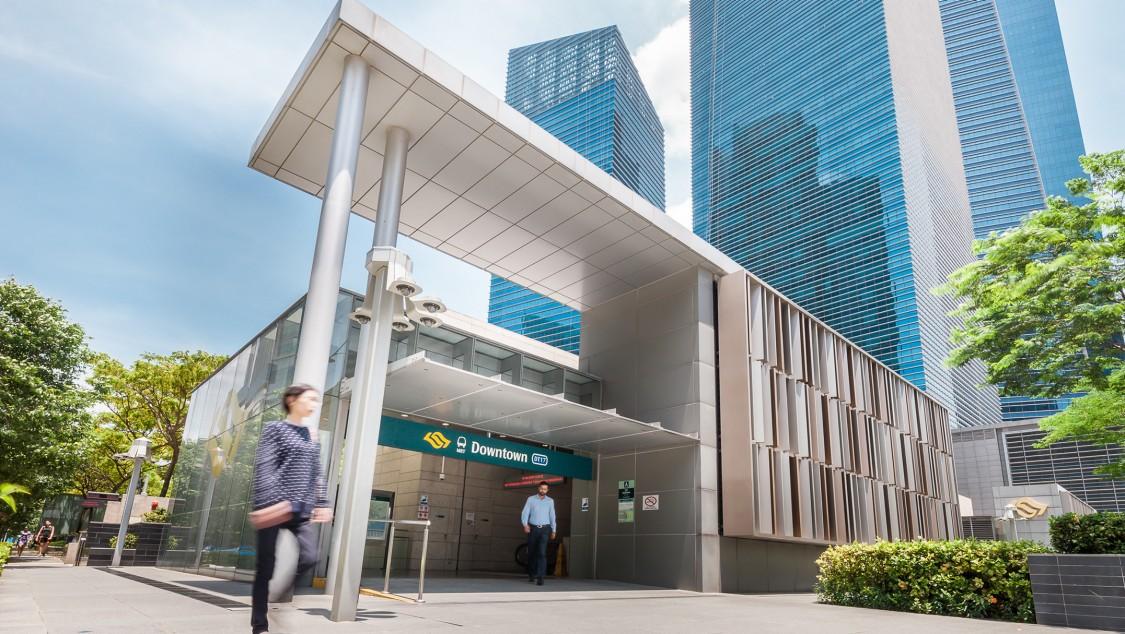 Bild der Downtown Line in Singapur