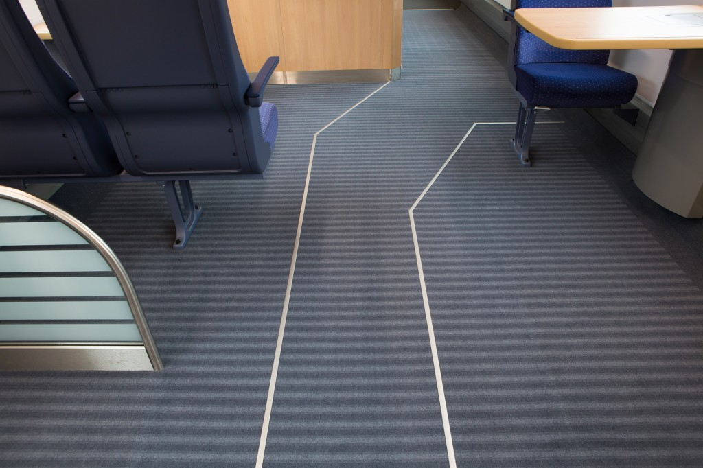 Tactile floor guidance system provides orientation