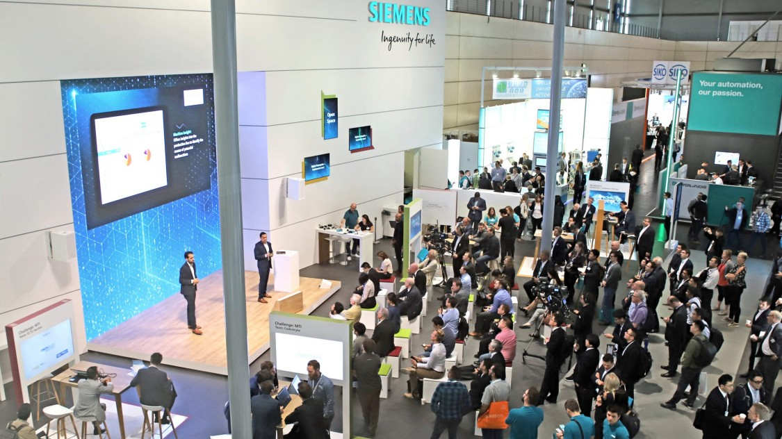 Open Space - The Siemens stage area at Hannover Messe 2019