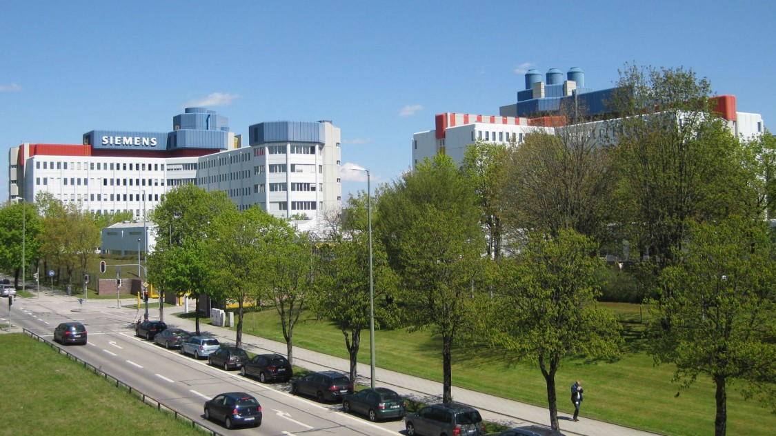 The Siemens campus in Munich, Neuperlach.
