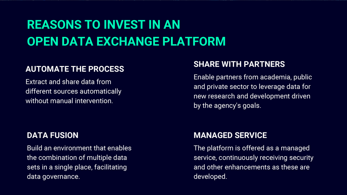 REASONS TO INVEST IN AN OPEN DATA EXCHANGE PLATFORM