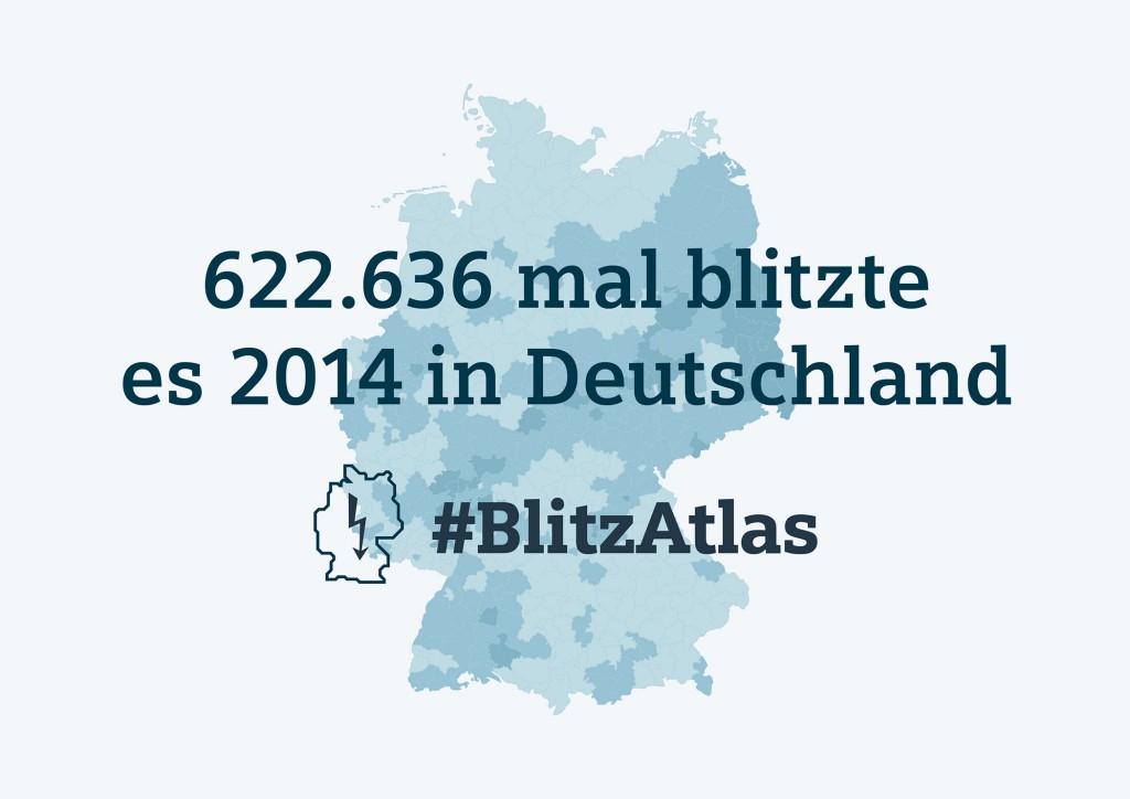 Siemens BIitzAtlas 2014: Gesamtzahl der Blitze in Deutschland 2014