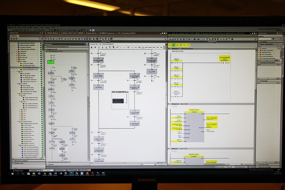 Plc-kod i TIA Portal som testas av som helhet i kontorsmiljö – utan några byglingar och simuleringar i applikationsprogrammet. Alla simuleringar och byglingar görs i Simit.