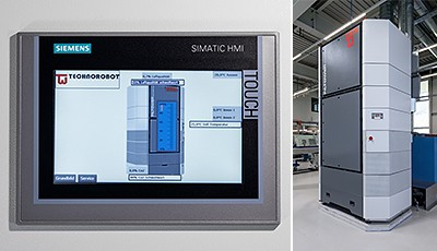 The Siemens KTP700 touchscreen operator panel provides a particularly user-friendly operating interface for the Klimatower. A Klimatower with Logo! 8 logic module controls the temperature in Moser Mechanik AG's new production facility.