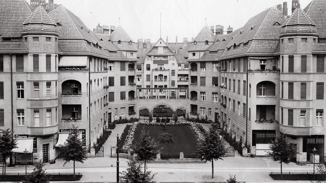 Wohnungen für Siemens-Beamte an der Nonnendammallee, ca. 1920