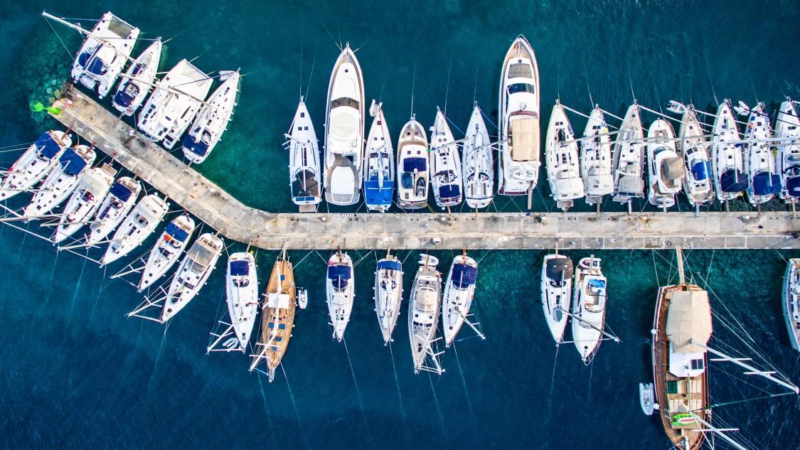 Mega yachts and yachts