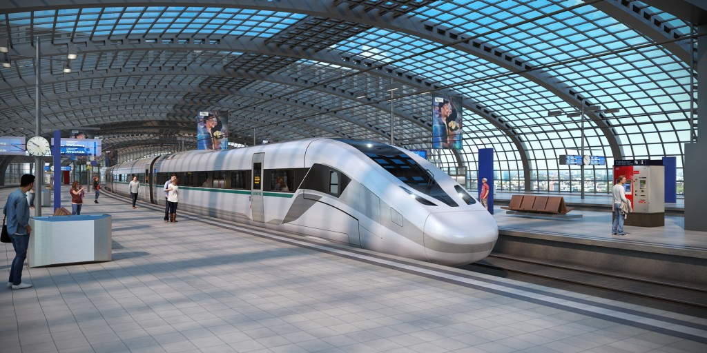 "Siemens presents its new high-speed train – the ""Velaro Novo"""