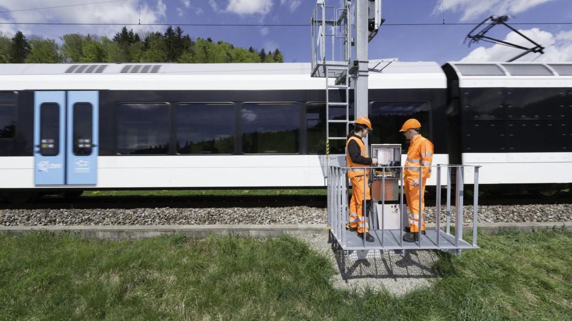 Ein Zug wird in Betrieb genommen