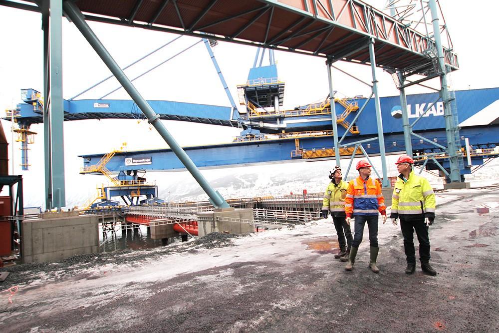 Effektiv utlastning i LKAB:s världsunika hamnanläggning