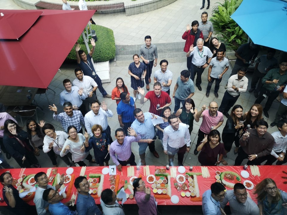 Lunar New Year Lohei with the Singapore colleagues last year, during the good old pre-COVID days
