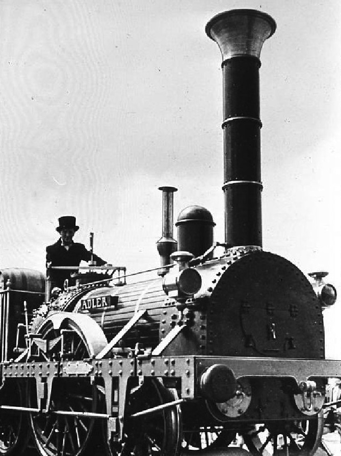 """Erste Dampflokomotive in Deutschland """"Adler"""", 1835"""