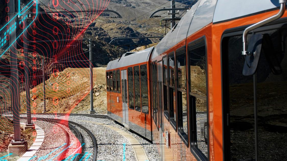 Gornergrat Bahn beim Matterhorn