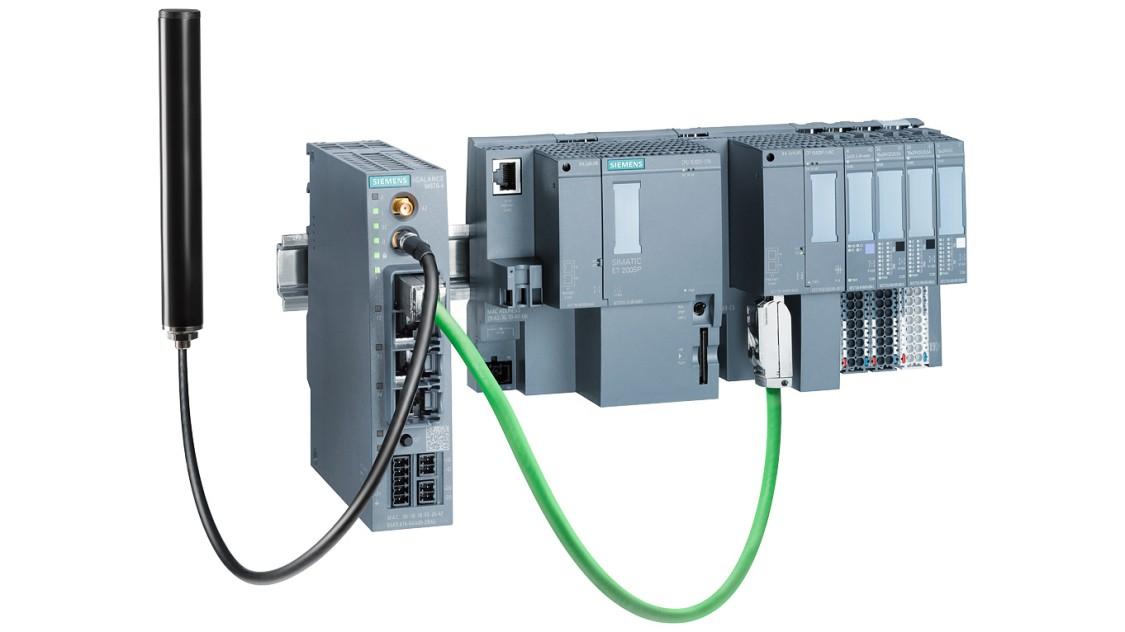 Bild einer RTU mit SIMATIC ET 200SP und Kommunikationsprozessor CP 1542SP-1 IRC