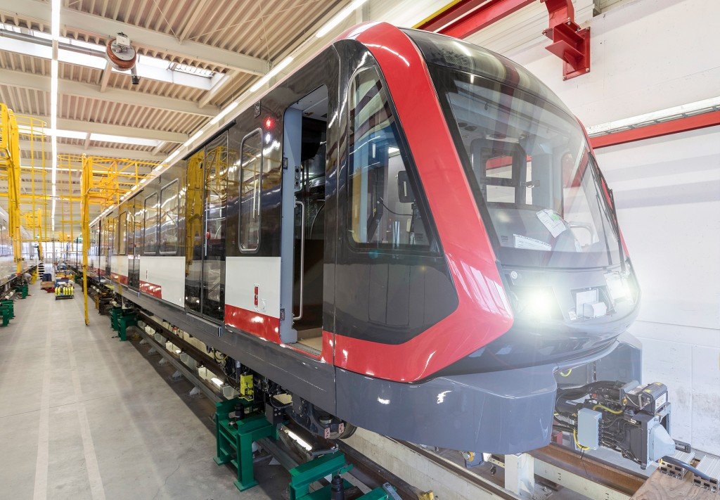 The picture shows a type G1 metro train.