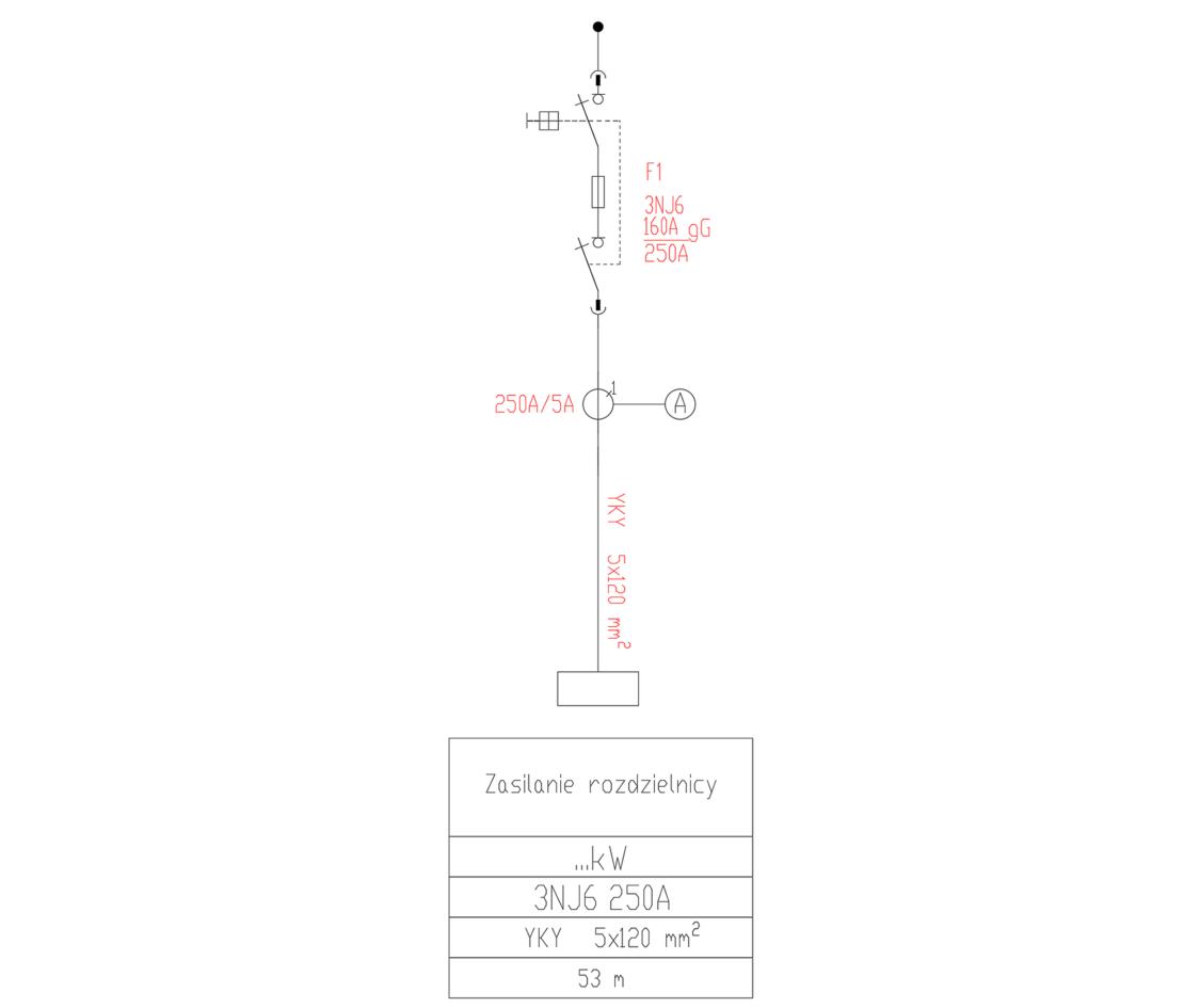 Schemat z rozłącznikiem bezpiecznikowym 3NJ6