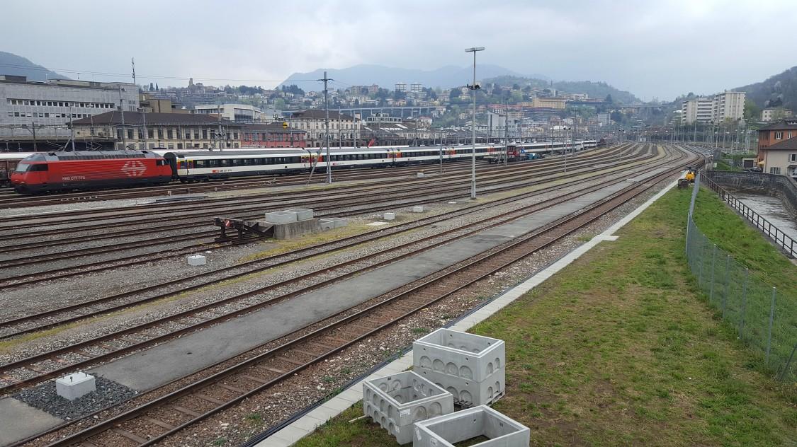 Bahnhof in Chiasso Ticino