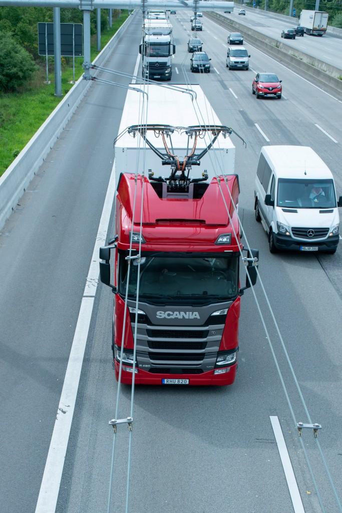 Einweihung des eHighways in Deutschland