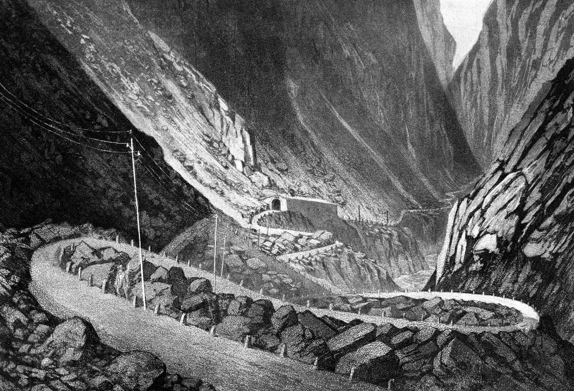 Telegrafenlinie über Gotthard