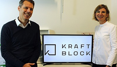 The fledgling enterprise Kraftblock, started by the founders Dr. Martin Schichtel and Susanne König, is dedicated to the development of modern energy storage technology.