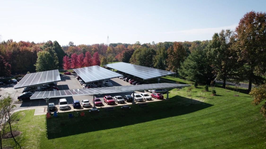 Solar Array Parking lot