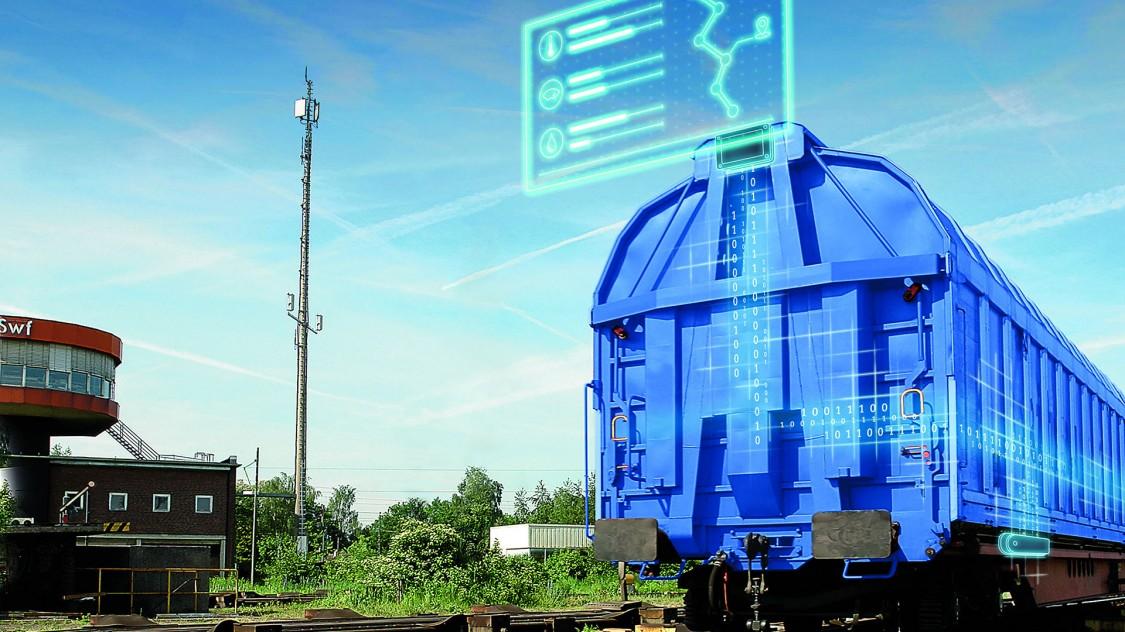 Güterwagen mit Telematiksysteme