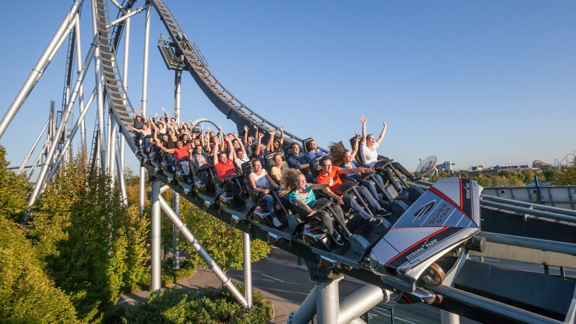 Rollercoaster at the Europa-Park in Rust, Germany