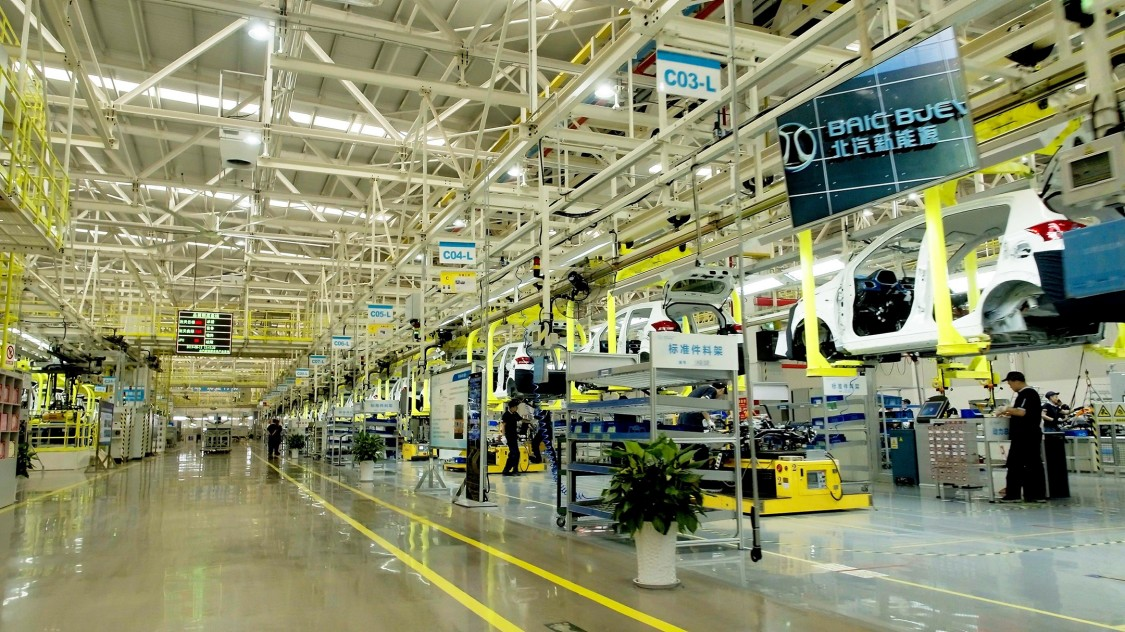 Inside the new BAIC BJEV factory, where the group is now producing its new electric cars EX3 and EC3 on a larger scale