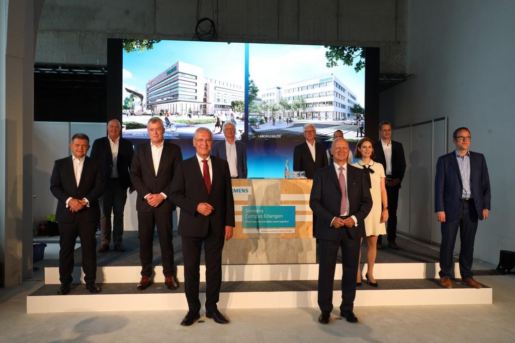 Richtfest Siemens Campus Erlangen
