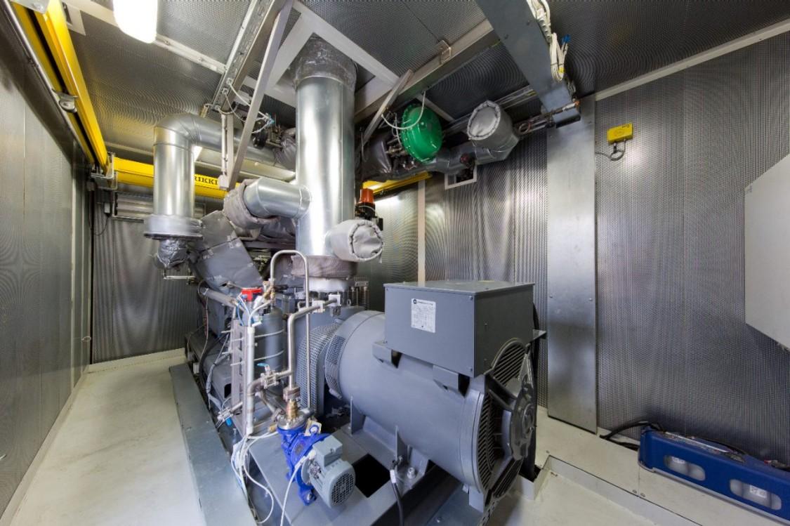 Bild einer modernen Abwärmeverstromungsanlage